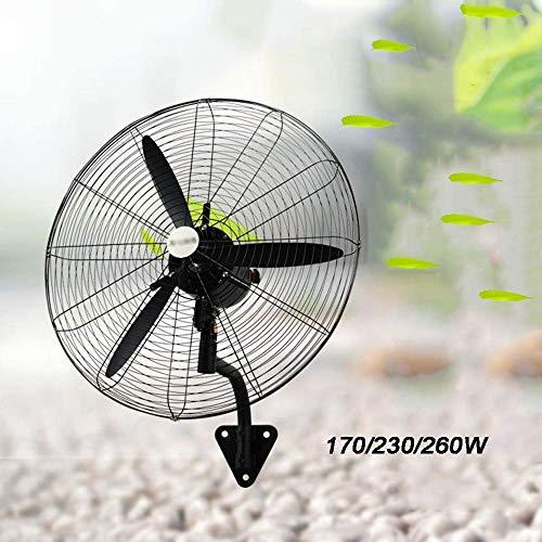 w-lfj parete industriale ventilatore ventilatore a pale oscillante con tre lame in lega di alluminio 3 impostazione della velocit (potenza, 170w, 230w, 260w),55 * 65cm