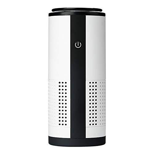 purificatore d'aria portatile, piccolo pulitore d'aria con ricarica usb, u12, diffusore per auto con ioni negativi, cattura ed elimina allergeni, fumo, polline, odori, polvere e batteri (bianco)