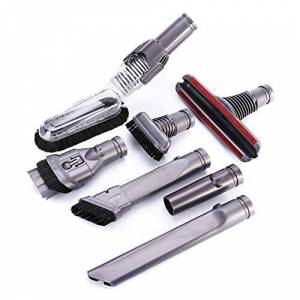 Bclaer72 Kit di ricambio per aspirapolvere 7 in 1 per aspirapolvere Dyson Handheld Cleaning Up Tools Kit di ricambio spazzole testa attacchi adatto V6 DC16 DC31 DC33 DC34 DC35 DC56 DC58 DC59 DC61 (grigio scuro)