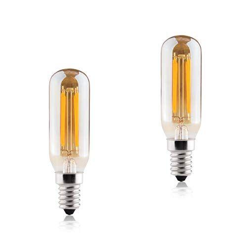 B4U Lampadine E14 Luce Calda Led 2700K 5.5w 550 lumen, Sostituisce la Lampade 50w, B4U Edison Lampadina Vintage, Lampada a Risparmio Energetico Durevole per Cucinare, Lampade da Tavolo Applique, 2 Pezzi