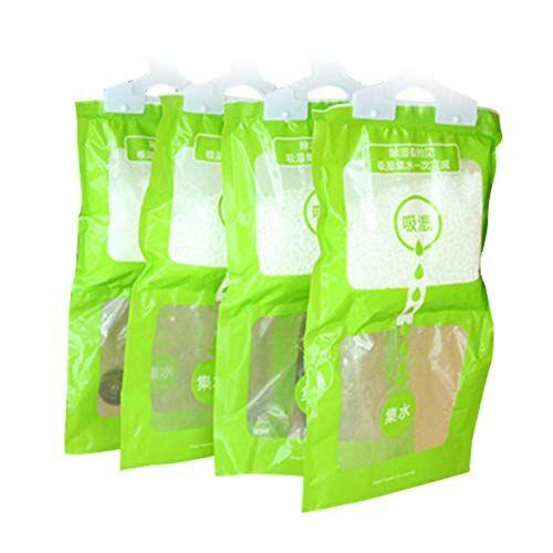 ifen deumidificatore appiccicoso per agenti umidi per guardaroba armadio deumidificatore igroscopico sacca assorbente per interni essiccante/verde