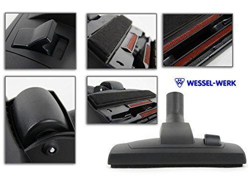 Wessel-Werk RD 270 P Fondo spazzola e bocchetta per parquet 2-in-1 aspirapolvere con bocchetta con inserto in feltro spartronic di marca WESSEL-WERK compatibile con AEG ELECTROLUX Ultra Silencer EL 7060 A, 7061 A/B, 7066 A, USALLFLOOR, USORIGIN/dB/WR/Pr/T