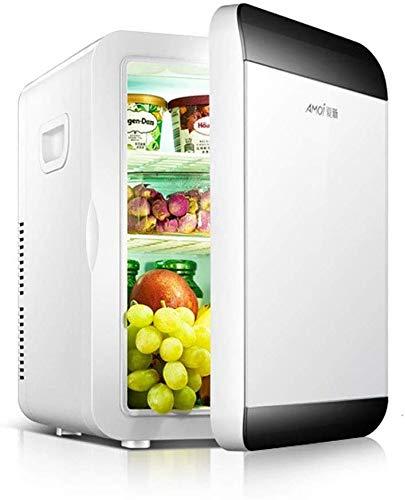 tiah mini frigo, mini frigo portatile più fresco caldo, ultra-silenzioso frigorifero auto, adatto for auto, camere da letto, uffici (color : white)