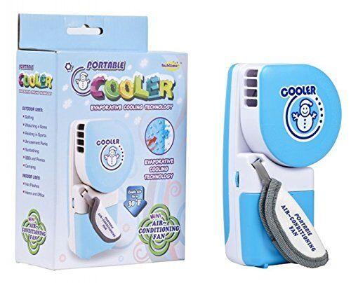 sunliday mini condizionatore portatile,dispositivo di raffreddamento pratico regolabile di velocità, usb / bettery palmare piccolo ventilatore del dispositivo di raffreddamento (blu)