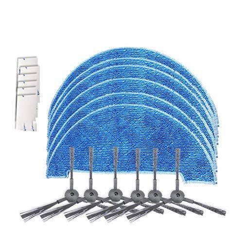 deasengmint robot aspirapolvere kit di parti panni scopa filtro spazzola laterale magico appiccicoso per ilife robot aspirapolvere accessori-multicolore 4
