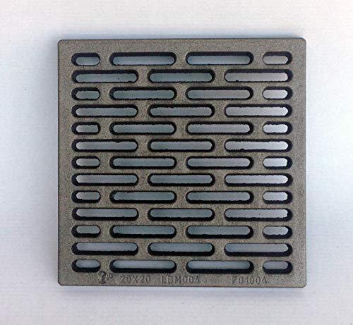 inferramenta griglia in ghisa 20x20 cm per areazione di stufe camini barbecue utile come base di appoggio legna