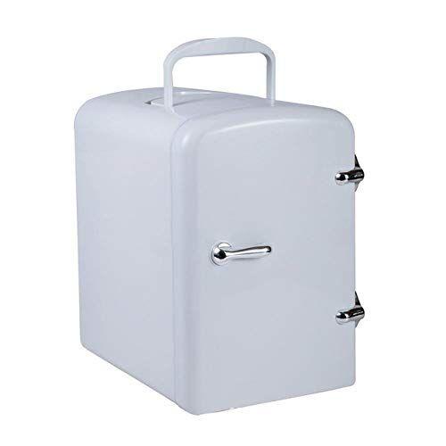 miwaimao mini frigo cooler 4l e personale cibo frigorifero semiconduttori frigorifero elettronico leggero e compatto caldo, cosmetici,bianca