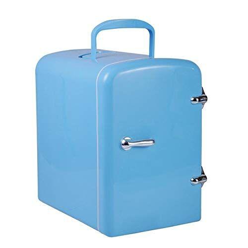 miwaimao mini frigo cooler 4l e personale cibo frigorifero semiconduttori frigorifero elettronico leggero e compatto caldo, cosmetici,blu