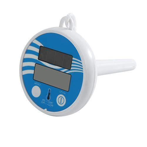 koojawind termometro per piscina solare galleggiante wireless, piscina digitale di facile lettura e spa strumento di misurazione della temperatura dell'acqua accurato per vasche idromassaggio