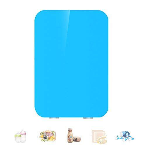 hzgrille mini frigo, frigorifero portatile da 8 litri e frigorifero personale pi caldo per la cura della pelle, cosmetici, cibo, ottimo per camera da letto, ufficio, auto, dormitorio,blue