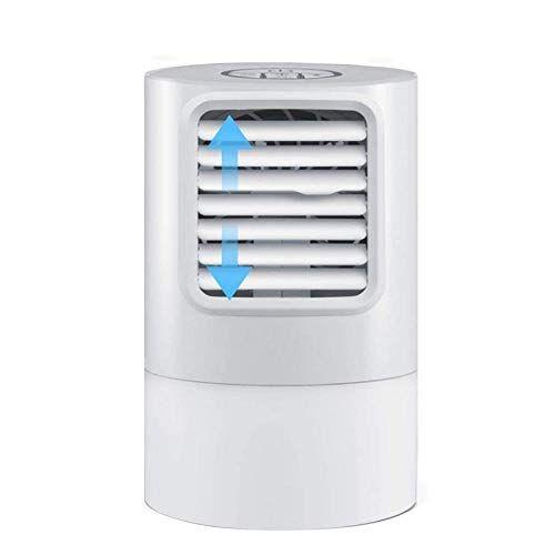 hanxin condizionatori portatili, ventilatore da tavolo per condizionatore d'aria, refrigeratore d'aria, refrigerazione spray, umidificatore, purificatore d'aria, con luce notturna a led-bianca