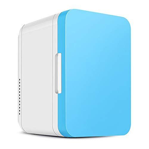 guoziya mini frigo da 8 litri frigorifero portatile for auto, scatola fredda elettrica portatile calda fredda, mini frigorifero dc12 / ac220 v scatola fredda (colore : blu)