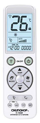 chunghop telecomando universale per climatizzatore condizionatore - display led con luce - torcia led - premium