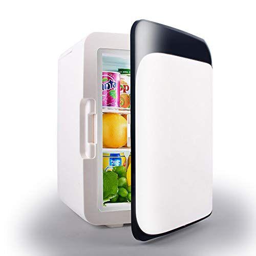 hzgrille mini frigo da 10 litri ac/dc portatile termoelettrico e riscaldatore per auto, case, uffici,black