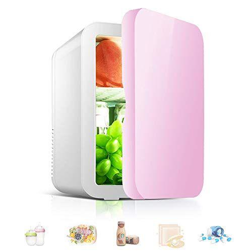 hzgrille mini frigo, frigorifero portatile da 8 litri e frigorifero personale pi caldo per la cura della pelle, cosmetici, cibo, ottimo per camera da letto, ufficio, auto, dormitorio,pink