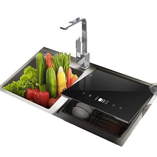 kyman lavastoviglie schermo impermeabile tocco lavastoviglie da incasso sink lavastoviglie 1900w potenza 75  ad alta temperatura di sterilizzazione 5 ingranaggi di regolazione intelligente shutdown kyman
