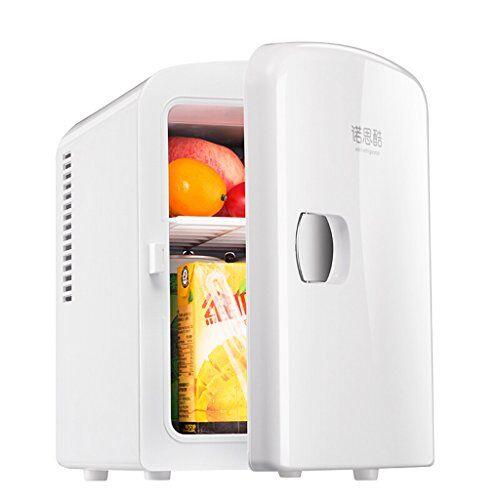 jxxddq mini frigo 4l muto bianco reefer del dispositivo di raffreddamento box (home office uso dell'automobile e)