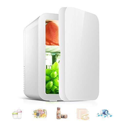 hzgrille mini frigo, frigorifero portatile da 8 litri e frigorifero personale pi caldo per la cura della pelle, cosmetici, cibo, ottimo per camera da letto, ufficio, auto, dormitorio,white