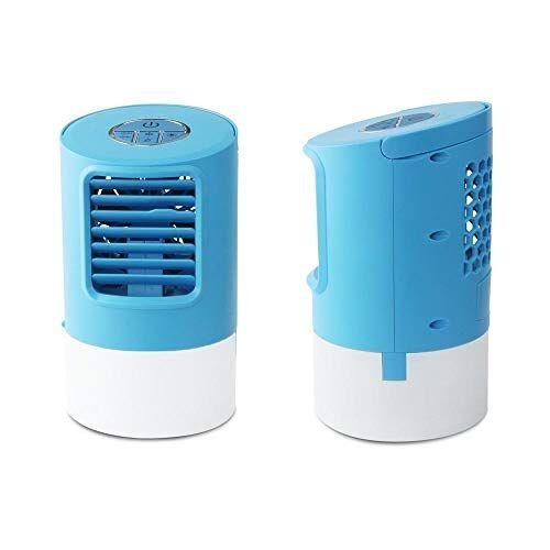 hanxin condizionatori portatili, ventilatore da tavolo per condizionatore d'aria, refrigeratore d'aria, refrigerazione spray, umidificatore, purificatore d'aria, con luce notturna a led-blu