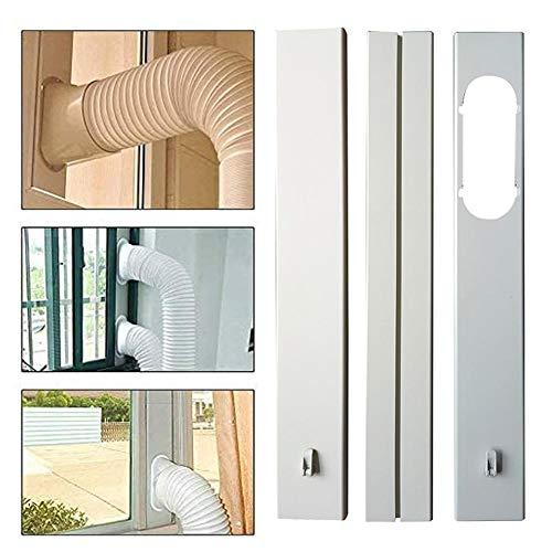 fulala condizionatore portatile kit finestra - kit tubo flessibile per estrattore piastra per adattatore per finestra portatile regolabile per adattatore finestra per aria condizionata