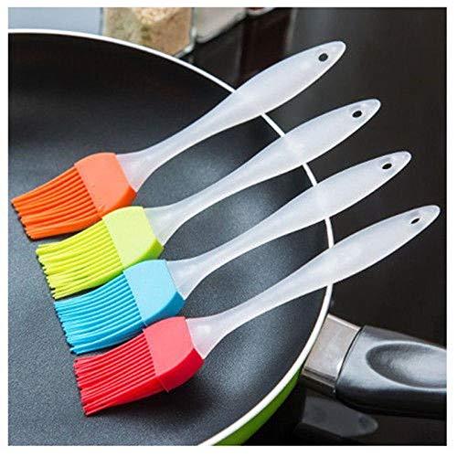 trihedral-x 4 pezzi di attrezzature da forno in silicone e accessori forno a legna barbecue olio chef di pennello da cucina condimento strumento pennello colori casuali