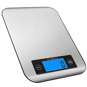 RedMiter Bilancia Cucina Digitale 10kg, RedMiter Bilancia Elettronica da Cucina Professionale con Precisione di 1 Grammi, Controllo Touch,Dimensioni 21.5x16x1.4 cm,Display LCD Super Chiaro,per Pesare Cucinando