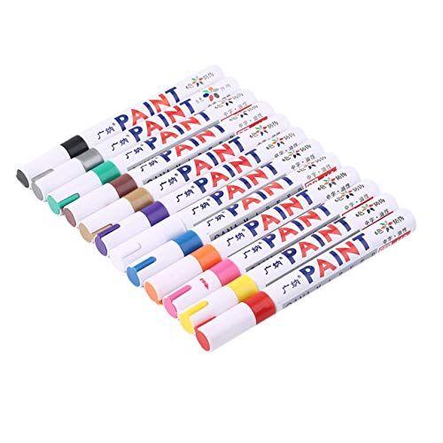 ballylelly pratico pennarello indelebile riempimento a olio penna per vernice graffiti penna multifunzione per pneumatici con 12 segni di colore su tutte le superfici