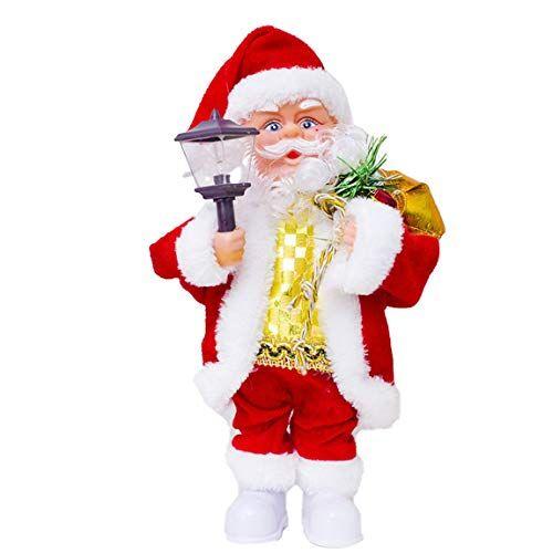 SeniorMar Giocattolo elettrico dei bambini del regalo di natale dei bambini della bambola musicale creativa di Santa Claus