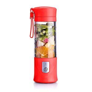 AMAZING1 Spremiagrumi elettrico USB di sicurezza, miscelatore di succo di frutta, mini portatile ricaricabile/spremiagrumi, miscelatore LCE e frullatore, bottiglia d'acqua da 420 ml (nero), rosso