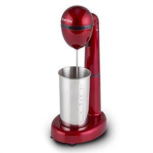 Klarstein Van Damme - Mini Blender, Frullatore, Mixer per Bevande e Frapp, Miscelatore per Cocktail, 450 ml, Caraffa in Acciaio Inox, Velocit Regolabile, Colore Rosso