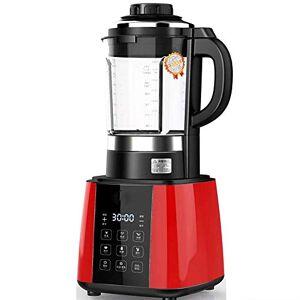 ZHW Il cibo bicchiere del frullatore frutta Juicer Mixer Timer-Blnders tritaghiaccio Food-processore con Jar PC/vetro bianco-con brocca di vetro ZHW345 (Color : Red, Size : With touch screen)