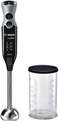 Bosch MSM67110 Frullatore ad immersione 750W Nero, Acciaio inossidabile frullatore