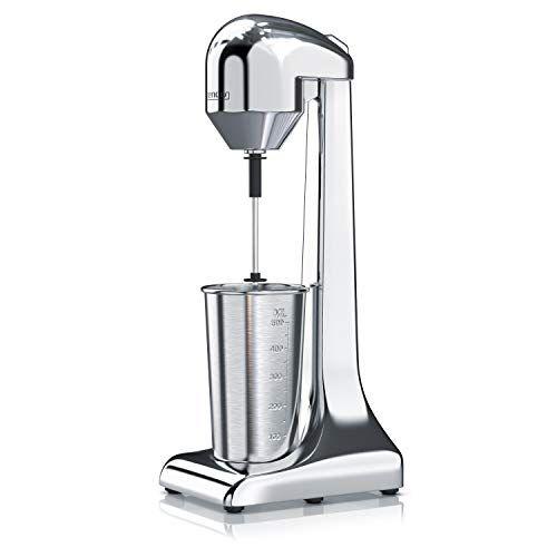 Arendo - Frullino per frappé   Montalatte   Mixer per Bevande   Brocca da 500 ml   100 W, 22.000 giri/min, 2 regolazioni di velocità   Smoothies Milkshake Cocktail