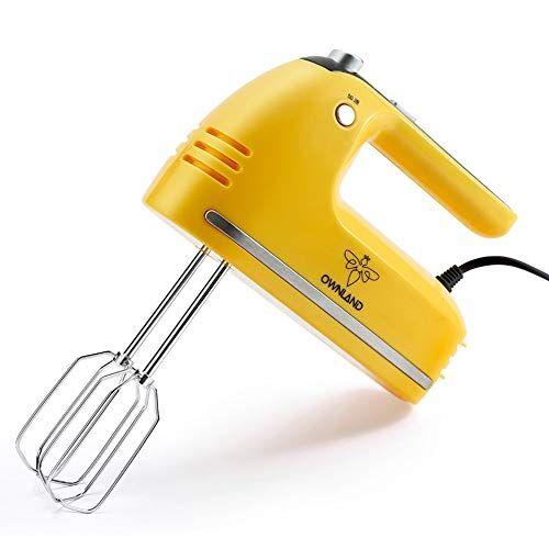 ljfjj sbattitore elettrico professionale 5 velocit sbattitore elettrico elettrico fare torte frusta e frusta a filo intrecciato in acciaio inossidabile 200w (color : yellow)