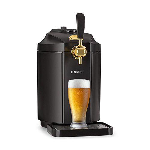 Klarstein Skal • Spillatore Birra • Refrigeratore Birra • Fusti da 5l • Sistema di Cartucce CO2 • Acciaio Inox • Raffreddamento 2-12 °C • 38 dB • Incluso Adattatore Heineken e Cartuccia CO2 • Nero