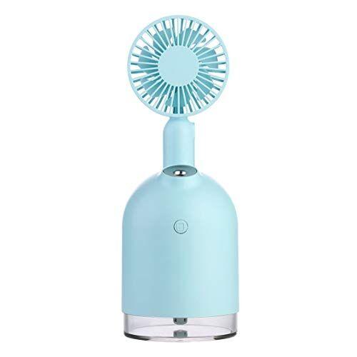 Vige Ventilatore Per Umidificatore Due In Uno Spray Per Idratazione Dell'Aria Home Tranquillo Ventilatore Pieghevole Portatile Umidificazione Moda - Blu