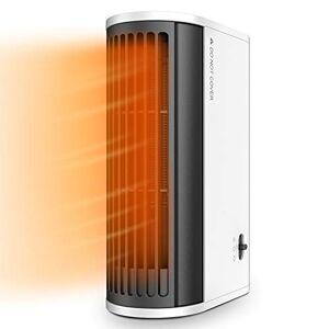 Himylife Termoventilatore Portatile, Riscaldatore Elettrico da 500W con Oscillazione Automatica, Riscaldamento Rapido, Uso Verticale e Orizzontale, Perfetto per Casa, Ufficio, Pavimento