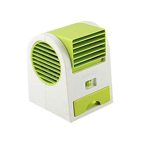 aomili condizionatore portatile, 2019 air cooler usb evaporativo dispositivo di raffreddamento umidificatore purificatore ventilatore ad aria condizionata per casa/ufficio/camper/garage (green)