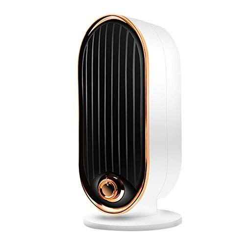qxpuss termoventilatore elettrico da 700 w, riscaldatore ambiente con protezione da surriscaldamento, riscaldatore da scrivania a basso rumore,per tenda da campeggio per ufficio domestico (bianco)