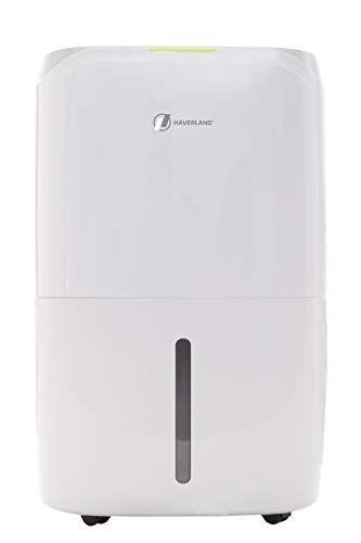 haverland des19   deumidificatore portatile 20 l/giorno   serbatoio grande capacitÀ fino a 6,5 litri   filtro hepa purificatore d'aria   maniglie e ruote   asciugabiancheria   controlli elettronici   display led   timer 24h