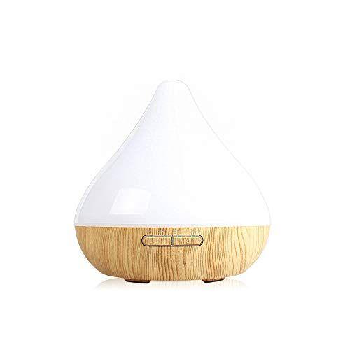 CNMF Diffusore di Aromi,300 ml Nebulizzatore ad ultrasuoni Umidificatore da camera Aroma elettrico Diffusore di oli,7 Colori a LED,Waterless Auto Off,per ambiente,ufficio,yoga,spa(bianco)