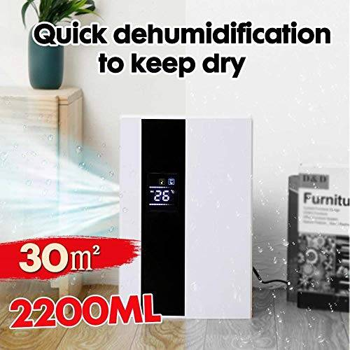 hyjx shop deumidificatore domestico astuto 2.2l grande schermo lcd dell'essiccatore dell'essiccatore secchio automatico purificatore di arresto completo con telecomando