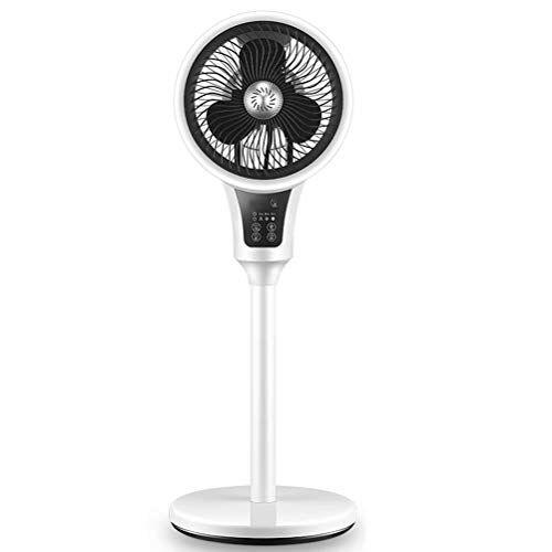ZHANGXIAOFENG Ventilatore per la circolazione dell'aria domestica, 5 metri di controllo remoto, 7 ore di temporizzazione intelligente, adatto per camera da letto/studio/ufficio - Nero