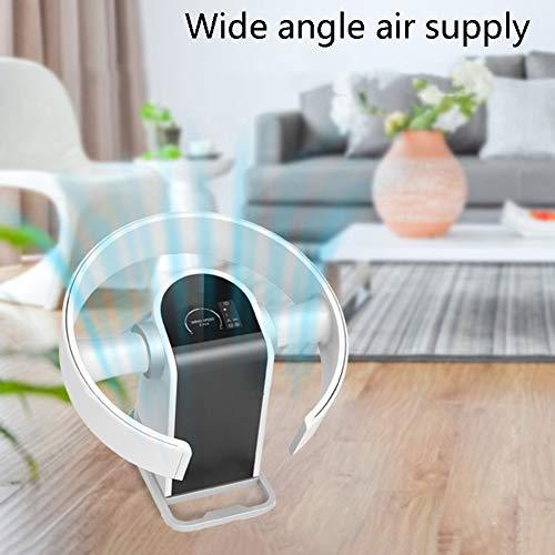 LYZL Ventilatore senza lama, Silenzioso sicurezza Air Cooler foglie ventilatore, Fan di controllo remoto 9 velocit del vento, 8 Timer ore, 90 oscillante per casa, ufficio, camera da letto