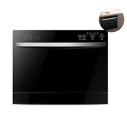 atten portable controsoffitto lavastoviglie, cucina domestica embedded lavastoviglie, 70 ° c a secco, veloce pulizia lavastoviglie da incasso votati, 6 insiemi, nero