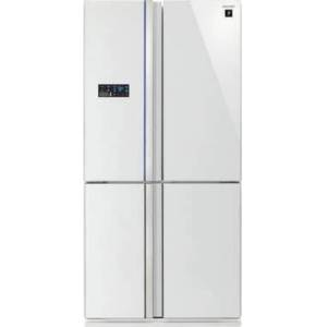 Sharp Sj-Fs820Vwh Freestanding 600L A++white Side-By-Side Refrigerator - Side-By-Side Fridge-Freezers (Freestanding,white, French Door, Touch,glass, Ce)