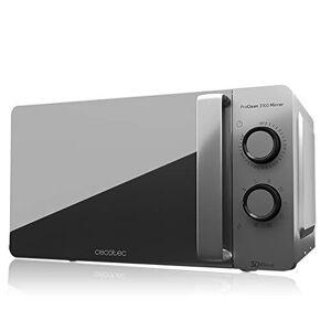Cecotec - Microonde con Grill ProClean 3160 Mirror Capacit di 20 l, rivestimento Ready2Clean, 700 W di potenza, griglia 800 W, 6 livelli, timer 30 min, modalit scongelamento, finitura argento.