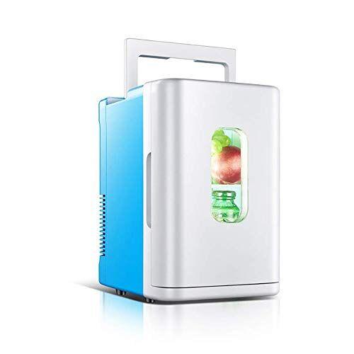 wffh mini frigo, 10 litri mini frigorifero più fredda e più con ac/dc cavi di alimentazione, super tranquillo in-vehicle freezer per l'automobile, camera da letto, ufficio,blu