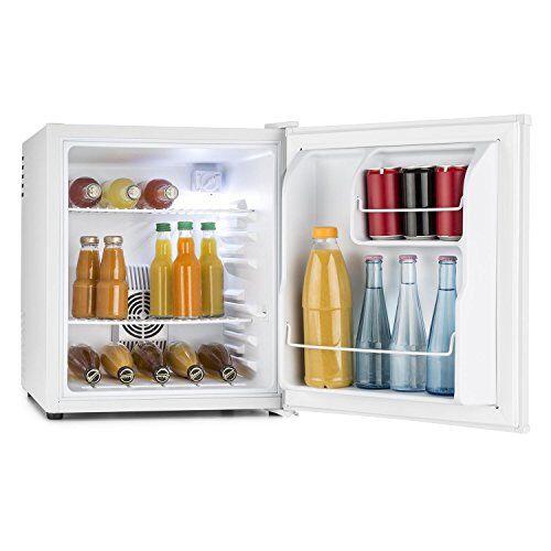 Klarstein • MKS-8 • mini frigo bar • A • 40 L • silenzioso • 30 db • ca. 43 x 51 x 48 cm • 2 ripiani • scompartimenti per bottiglie • temperatura regolabile 3 livelli • bianco opaco • bianco
