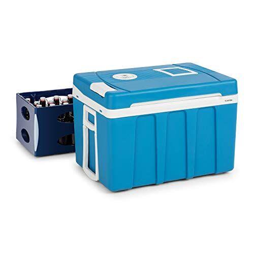 KLARSTEIN BeerPacker Borsa Frigo Portatile - Borsa Teroelettrica, Accessorio per Picnic/Campeggio, 50L, Energetica A+++, 12V e 230V, Maniglie di Trasporto e Ruote, per Cassette di Birra, Blu